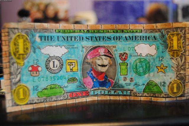 1ドル札はマリオだった