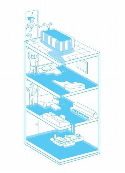 水浸しマンション