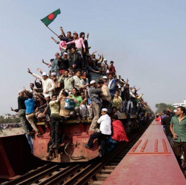 超満員電車