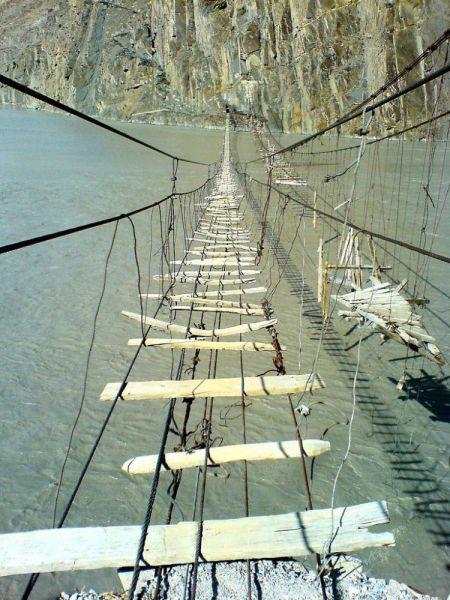 怖い吊り橋