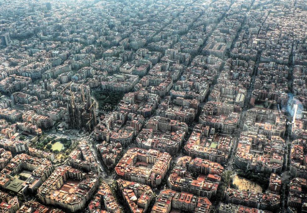 バルセロナの町並み