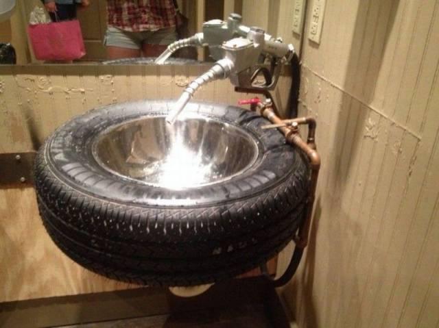 斬新な洗面台
